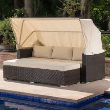 Outdoor Wicker Daybed Brayden Studio Outdoor Wicker Daybed With Cushions Reviews