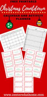 christmas countdown calendar a month of memories christmas countdown calendar activity planner