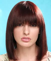 hair bangs short blunt square face square face shape the right hairstyles for you