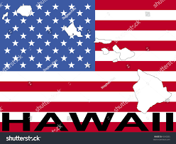 Hawaii On The Map Map Hawaii On American Flag Illustration Stock Vector 4245085