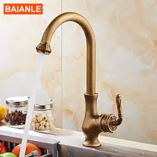 Antique Brass Kitchen Faucet Compare Prices On Kitchen Tap Mixers Online Shopping Buy Low