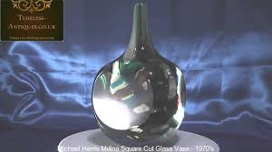 Cut Crystal Vases Antique Michael Harris Mdina Square Cut Glass Vase Youtube