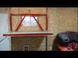 garage attic lift construction youtube