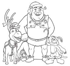 cartoon story character shrek coloring pages for kids womanmate com
