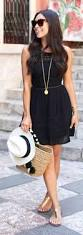 simple and stylish travel dress for day with gold sandals add a