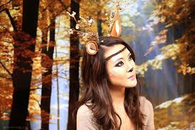 Deer Halloween Costumes Deer Makeup Tutorial Halloween 2013 Head Toe