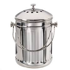 compost canister kitchen stainless steel compost pail reviews the container store