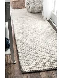 6x8 Area Rug Christmas Savings On Nuloom Contemporary Solid Braided Runner Area