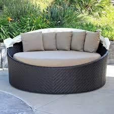 Curved Wicker Patio Furniture - decorating comfortable sunbrella outdoor cushions for elegant