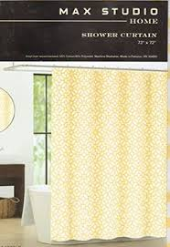 Amazon Com Shower Curtains - amazon com interdesign moxi fabric shower curtain yellow and
