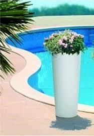 vaso resina bianco vaso tondo moderno liscio alto 纔31 x h 70 cm in resina cache pot
