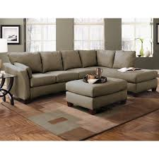 klaussner drew sectional sofa in charcoal microsuede right