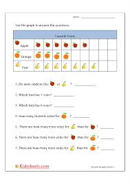 kidz worksheets first grade bar graph1