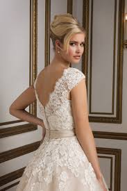 style 8815 vintage inspired champagne tulle tea length bridal