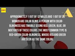 Most Common Type Of Color Blindness What Is It Like To Be Color Blind Youtube