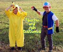 Ash Ketchum Halloween Costume Pikachu U0026 Trainer Ash Ketchum Costumes Scrap Shoppe