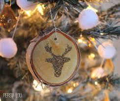 glittery wood slice ornaments lou