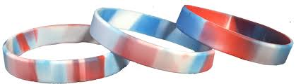 silicone bracelet wristband images Silicone wristbands red white and blue reusable wristbands png