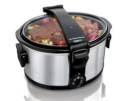 amazon com hamilton beach 7 quart stay or go slow cooker kitchen
