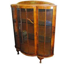 vintage art deco style curio cabinet ebth