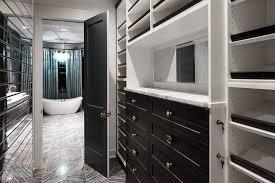 white closet dresser with black mirror transitional closet