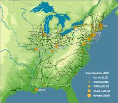 map us railroads 1860 american rail network 1861