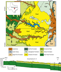 Map Of East Texas Geologic Map Of The Spillway Of Lake Georgetown And Vicinity In