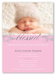 blessed 5x7 invitation card baptism invitations