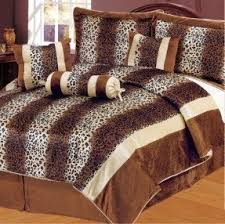 Faux Fur Comforter Set King Leopard Print Comforter Set Queen Foter