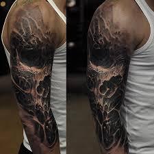 evil designs evil skull sleeve ideas