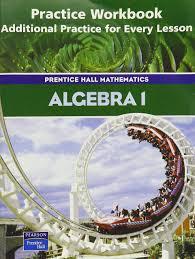 amazon com algebra 1 practice workbook additional practice for