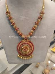 short necklace with pendant images Gold antique short necklace with ruby pendant short necklace jpg