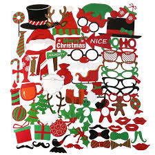 Christmas Photo Booth Props 62pcs Set Merry Christmas Photo Booth Props Christmas Party