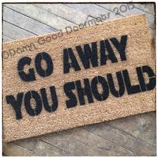 funny doormat rude yoda go away you should doormat damn good doormats