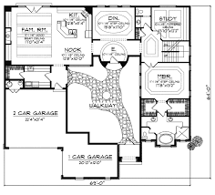 Beautiful Idea Small Home Plans With Courtyards 13 Small House