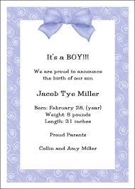 baby announcement wording announcing birth of baby boy wording blue ba boy birth