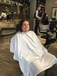 this is chris before his haircut at tricho hair salon in royal oak