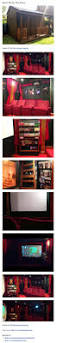 small home theater room design black ceiling red walls home theater ceilings and room with