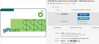gas gift card 100 bp gas gift card for 77 on ebay