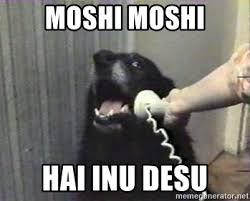 Moshi Moshi Meme - moshi moshi hai inu desu hello yes this is dog meme generator