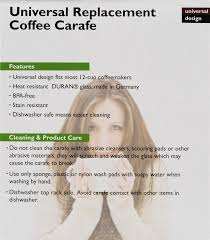 one all 12 cup universal replacement coffee carafe walmart com