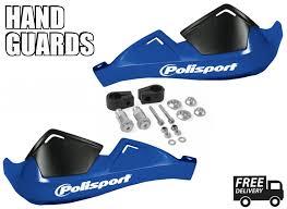 polaris 500 predator 05 06 motorcycle blue handguards polisport ebay