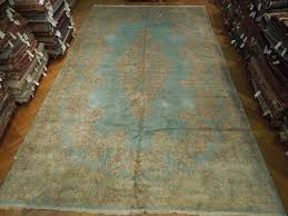 Pastel Area Rugs by 12x20 Persian Classic Kerman Rug Light Blue Pastels Ebay