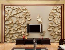 Wall Murals 3d Custom Any Size Tree Pigeon Stereo Relief Tv Wall Mural 3d