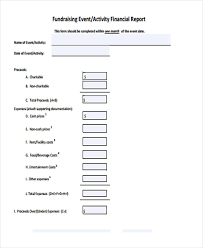 fundraising report template fundraising report templates fieldstation co