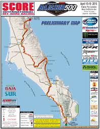 Race Map Baja Sur 500 Map Whos In Race Dezert