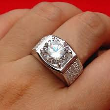 diamond ring for men design luxury big design 5ct sona diamond engagement ring