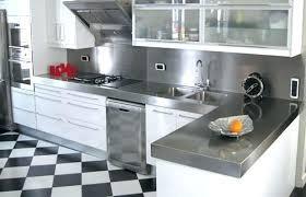 credence cuisine inox plaque d inox pour cuisine carrelage 3 lzzy co
