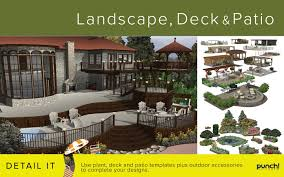 Designer Decks And Patios by Amazon Com Punch Landscape Deck And Patio Design V19 For