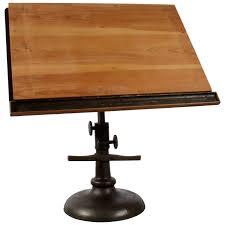 Drafting Table Light Fixtures Impressive 1940s Pedestal Base Architect U0027s Drafting Table At 1stdibs